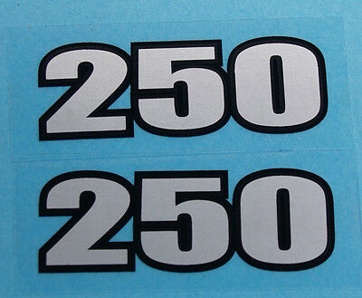 A pair of Trials Bultaco Sherpa 250 Side panel decals