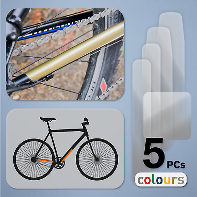 5pc Road Bike MTB Chainstay & Frame/Downtube Protector Stickers Bicycle Decals