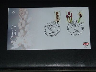 Malta FDC First Day Cover Maltese Flora Series III Issued 22nd January 2016