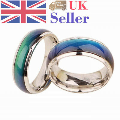 Color Changing Ring Genuine Round Mood Temperature Emotion Feeling Unisex Gifts