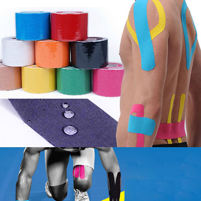 5M/Roll 5cm Sports Elastic Kinesiology Tape Muscle Pain Care Therapeutic Tape EN