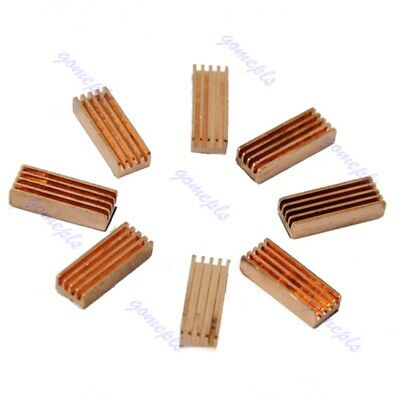8pcs Copper Heat Heatsinks Cooler Sink For PC Computer DDR DDR2 Memory RAM New