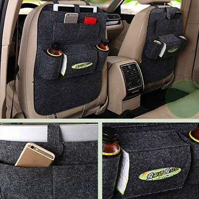 Auto Car Seat Back Bag Organizer Storage For iPad Phone Holder Multi-Pocket Hang