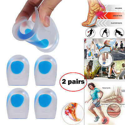Gel insert heel pads heel support orthotic cup insole pain relief running work