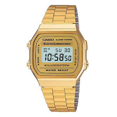 A168WG-9W Vintage Casio  Gold Digital Watch A168