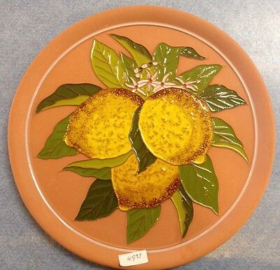 Vietri Pottery-10 inch Plate with lemon.Made Painted by hand in Italy