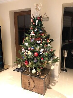CHRISTMAS TREE STAND DISPLAY XMAS TEA CHEST TABLE FURNITURE twinings Shabby Chic