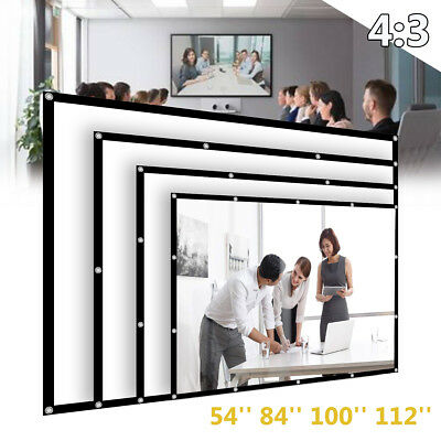 """57"""" Motorised Electric Projector Screen Home Cinema HD DVD 4:3 Projection"""