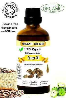 Organic Castor Oil 100% Cold Pressed Undiluted,Certified, Premium Quality 50 ml