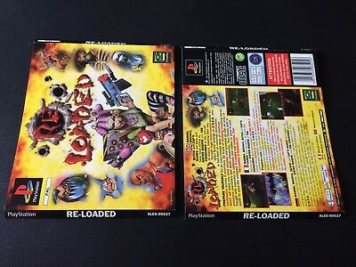 Re-Loaded Big Box Inserts Front & Back Sony PlayStation PS1