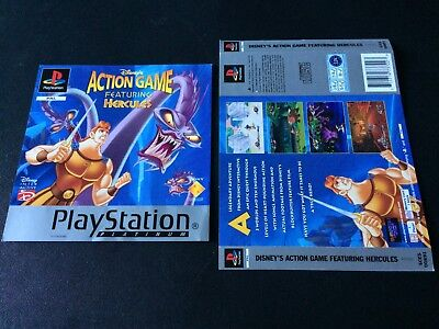 Disney's Hercules Platinum Inserts Front & Back Sony PlayStation PS1