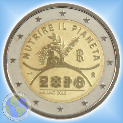 """2 Euro ITALIEN 2015 """" EXPO Milano - Mailand """" ## PP / Proof ## in Kapsel aus KMS"""