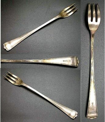 Atchison Topeka & Santa Fe Railroad Dining Car Silver Cocktail Fork ~ Cromwell