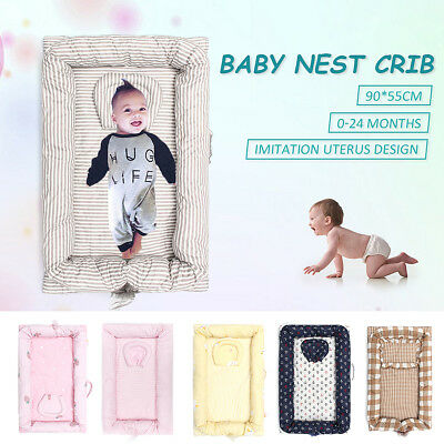 Newborn Cuddle Baby Nest Pod Bedding Travel Cot Crib Cot Portable Cotton