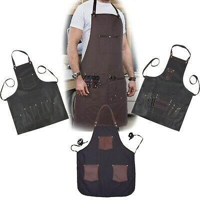 New Black Professional Leather Hairdressing Barber Apron Cape Barber Hairstylist