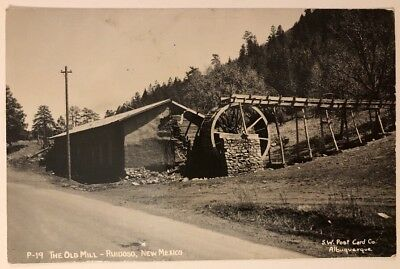 The Old Mill Ruidoso NM RPPC SW Post Card Co