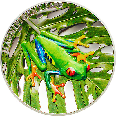 2018 $5 Cook Islands Tree Frog 1oz .999 Silver Proof Coin