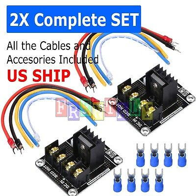 3D Printer hotbed MOSFET expansion module inc 2pin lead Anet A8 A6 A2 Black H5M9