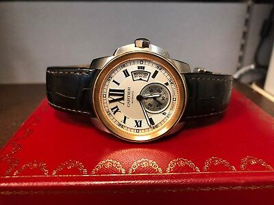 14d10317458 Cartier Calibre De Cartier 3389 Steel   18K Rose Gold Men s 42Mm Watch ...