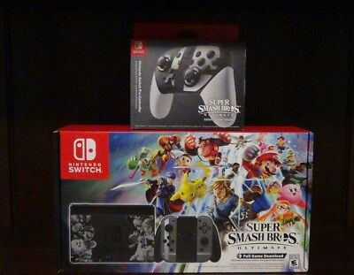 Super Smash Bros Ultimate Nintendo Switch Console with (Full Game Download)  NIB