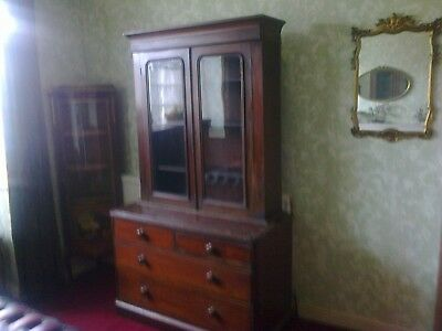 Victorian Bookcase On Drawers.