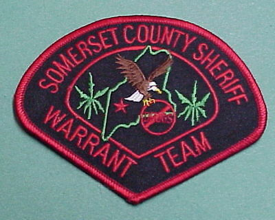 Somerset County  Maine  Warrant Team  Sheriff /  Police Patch   Free Shipping!!!