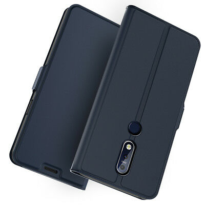 For Nokia 7.1 Genuine PU Leather Flip Stand Wallet Case Fashion Full Body Cover
