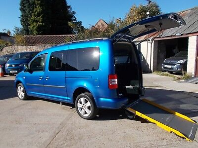 Wheelchair Accessible Disabled  Wav 2013 Volkswagen Caddy Maxi C20 4 Seats + Wc