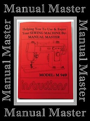 Models M 949 Jones Brother  sewing machine instruction Manual Booklet