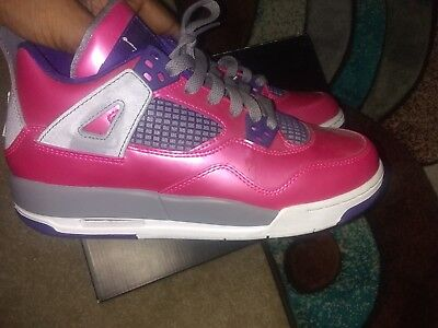 7cce41e9b GIRLS SIZE 5.5Y Retro Air Jordan Shoes Silver Purple And Pink Air ...