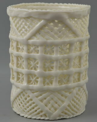Old China Collect Decorate White Porcelain Carve Rare Noble Big Usable Brush Pot