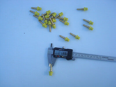 """Lot of 20 pcs Voss brass drive-in nipple/rod size 5.4mm/1/4"""" plug connector"""