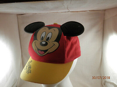 Disney Parks Mickey Mouse Ears  baseball cap hat youth 54-57cm red & Yellow