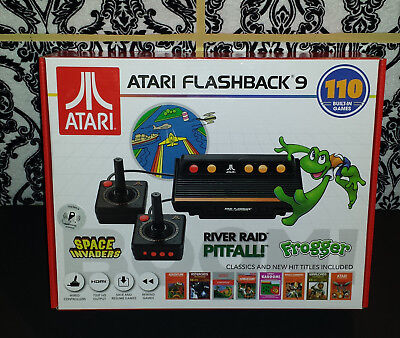 (1) Atari Flashback 9 Console - 110 Built in Games +2 Wired Controllers 2018 NEW
