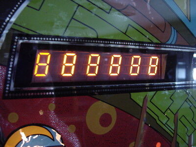 Williams Pinball 6 Digit Numbers Display, Systems 3,4,6.  Guaranteed To Work !