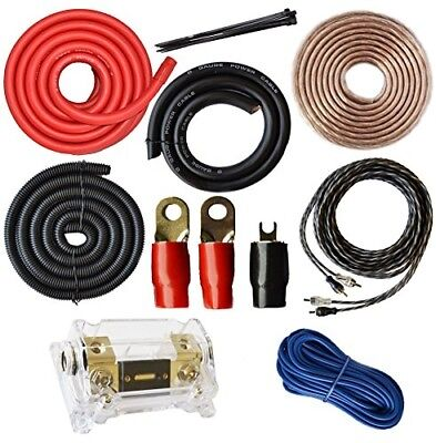 Amplifier Kits 0 Gauge Amp Install Wiring 1/0 Ga Pro Cables 5000W Audio Car Boat