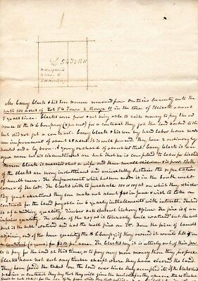 1828, Holland Land Co., New York, Judge Elial T. Foote, pair of land doc. signed