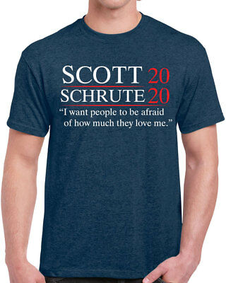457 Scott Schrute 2020 Mens T-shirt election the office dwight michael funny new