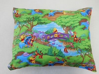 Winnie the Pooh Pillowcase Child Cot Toddler Size 100% Cotton