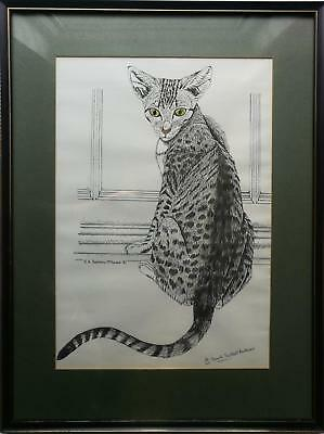 Kenneth A Trestrail-Mckenzie Pencil Signed Limited Edition Print, A Cat 10/100