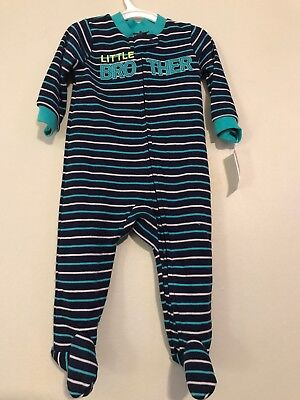 0e7f8efda Baby Boy's Just One You By Carter's 6 Month Little Brother Footed Sleeper  New