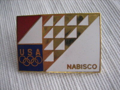 Vintage Collectible NABISCO Advertising USA Olympic Pin - P11