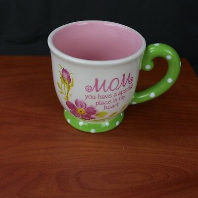 """Burton and Burton """"Mom You Have A Special Place In My Heart"""" Coffee Mug Pink NEW"""