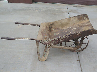Antique Wheel Barrow All Metal