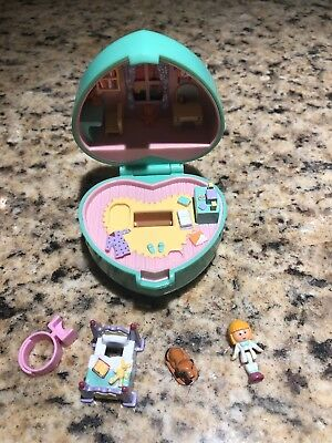 Polly Pocket Vintage 1991 Midges Bedtime Ring & Case Complete