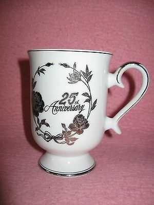 25th Anniversary Mug Cup Norcrest Chatillon Fine Porcelain crafted in Japan