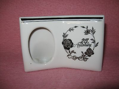25th Anniversary Photo Frame Norcrest Chatillon Fine Porcelain crafted in Japan