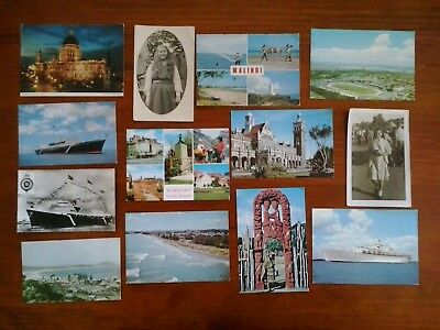 Vintage old postcards photo cards bulk lot x 13 mostly New Zealand & overseas