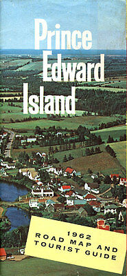 1962 Official Road Map of Prince Edward Island from the PEI Tourist Bureau