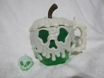 Disney Parks Halloween Poison Apple Stein Mug with Green Glow Cube New
